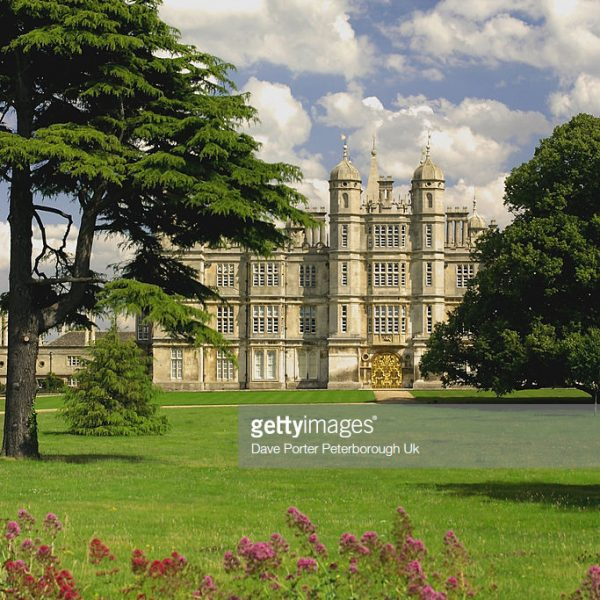 Burghley House set within beautiful gardens near the town of Stamford in Cambridgeshire. Burghley House was used as a location for the film The Da Vinci Code.